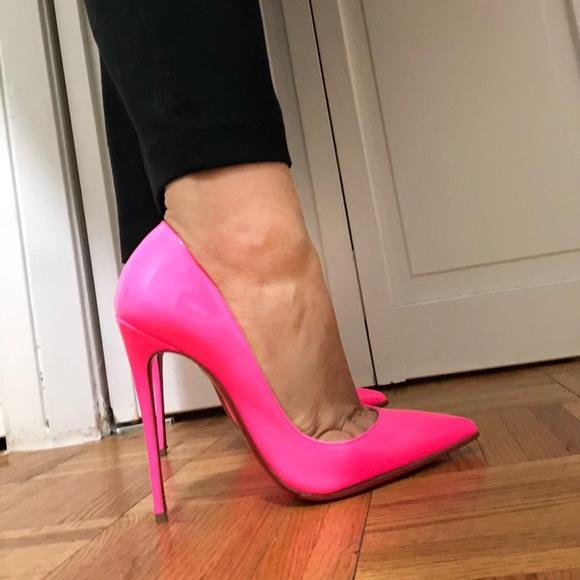 neon pink louboutins